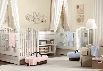 Twin-biy-girl-nursery-decor-ideas